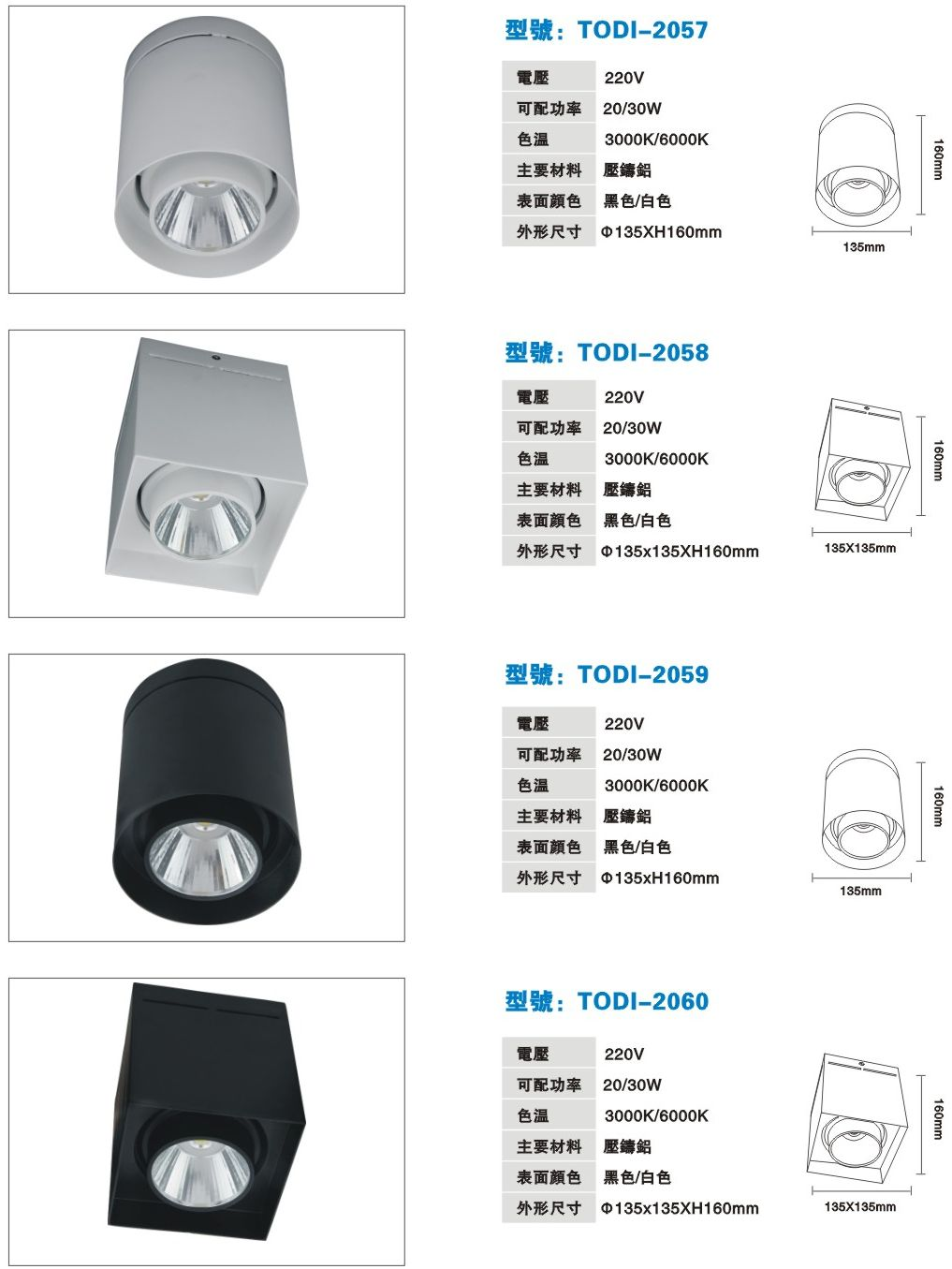 TODI LED筒燈系列